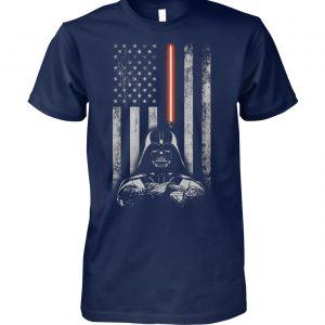 Darth vader american flag star wars unisex cotton tee