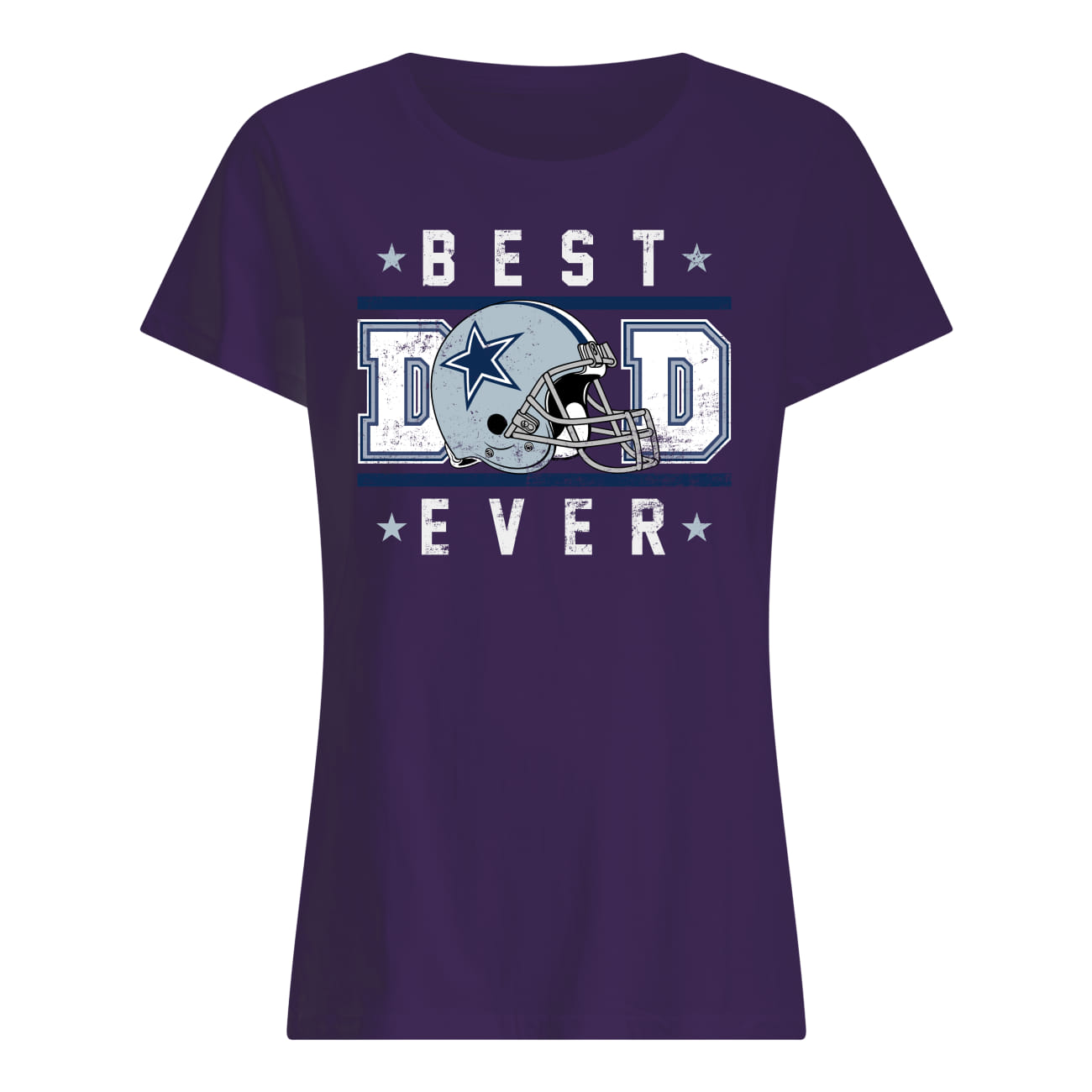 Father's day dallas cowboy best dad ever lady shirt