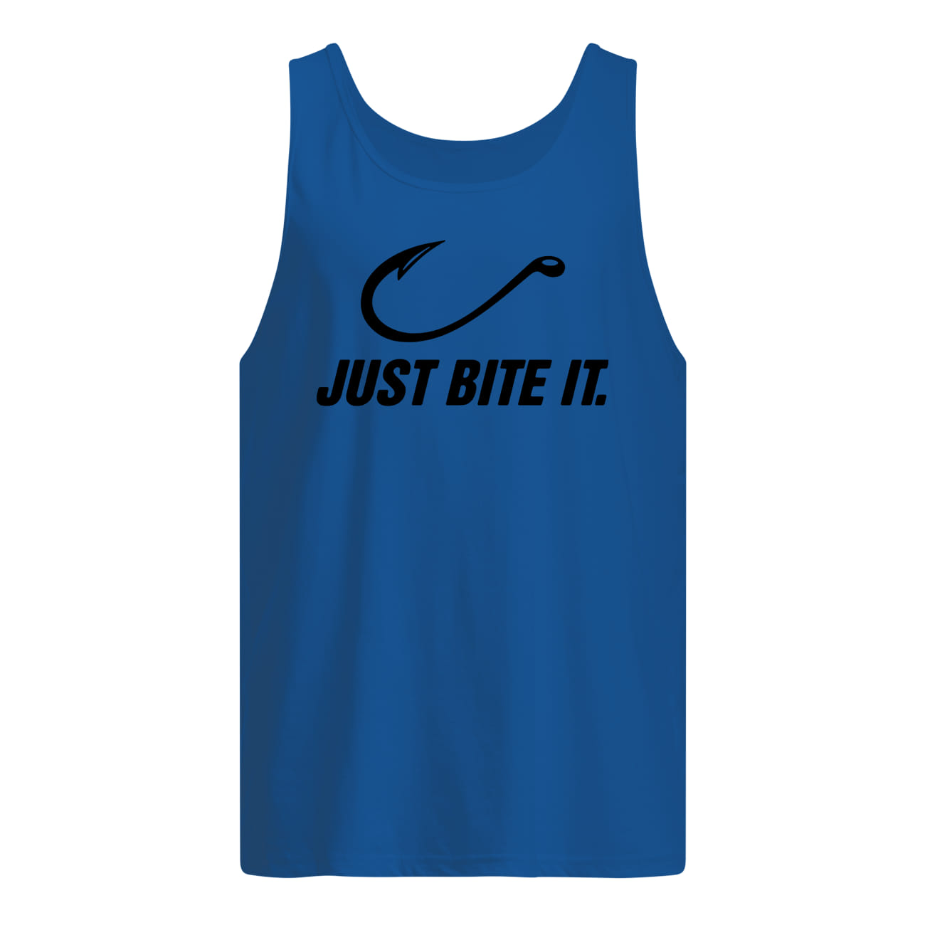 Fishing just bite it tank top