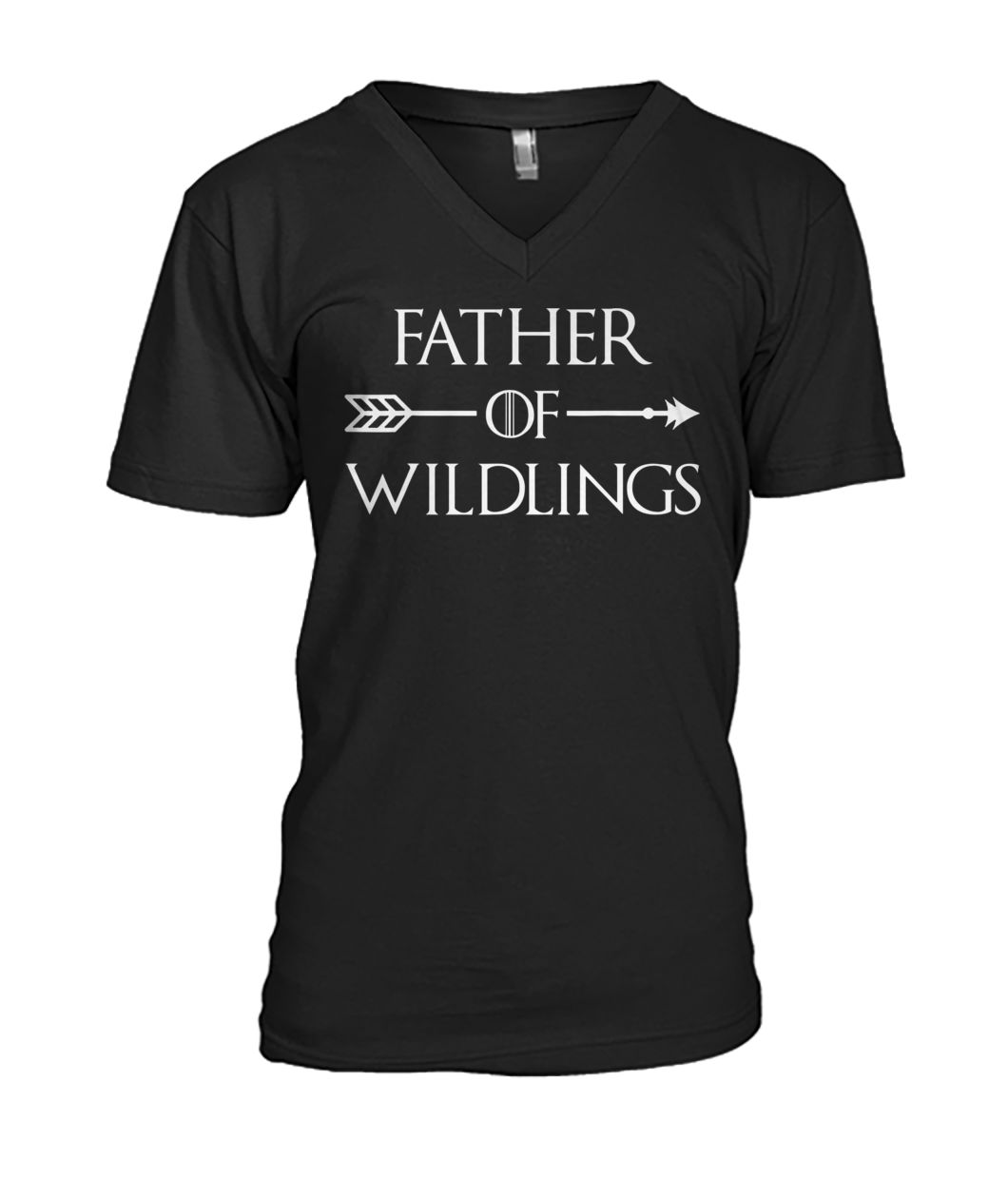 Game of thrones father of wildlings mens v-neck