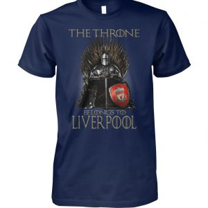 Game of thrones the throne belongs to liverpool unisex cotton tee