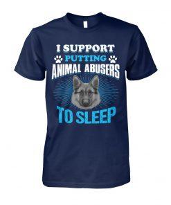 German shepherd I support putting animal abusers to sleep unisex cotton tee