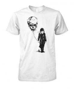 Girl with skull balloon unisex cotton tee