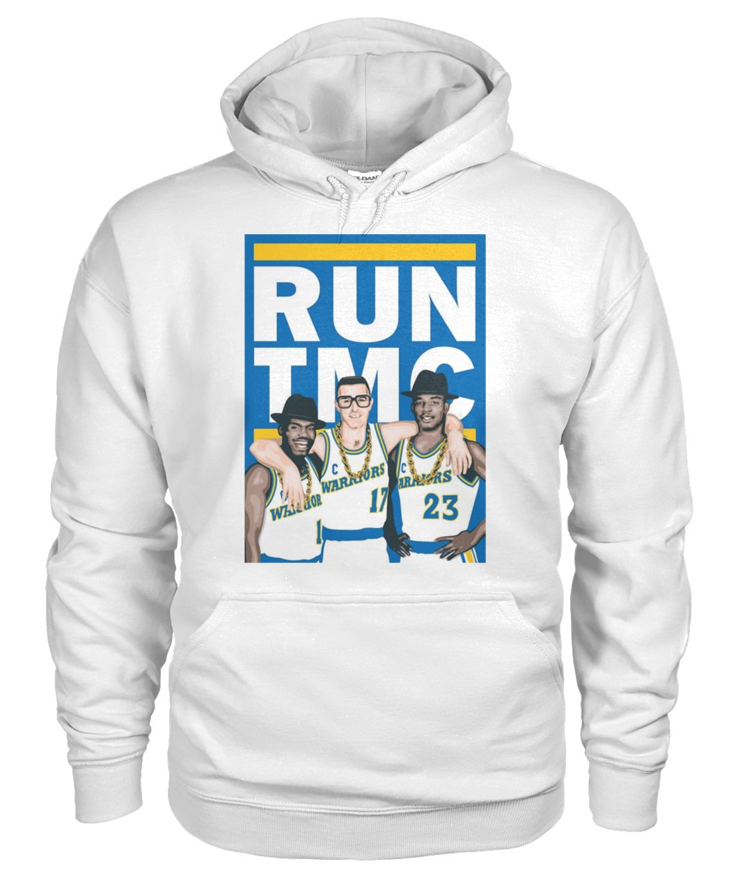 Golden state warriors RUN TMC gildan hoodie