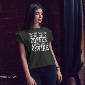 Her day starts with a coffee and ends with a wine shirt