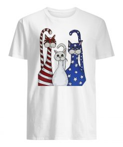 Independence day 4th of july cats beauty america flag guy shirt