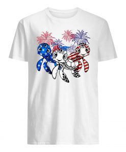 Independence day 4th of july turtles beauty america flag guy shirt