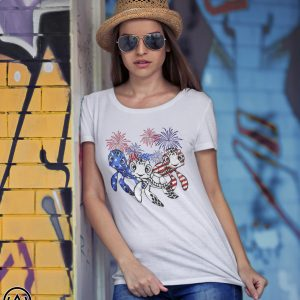 Independence day 4th of july turtles beauty america flag shirt