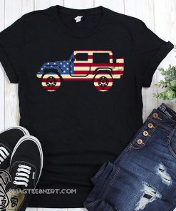 Jeep american flag 4th of july shirt