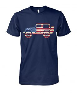 Jeep american flag 4th of july unisex cotton tee