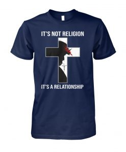 Jesus it's not religion it's a relationship unisex cotton tee