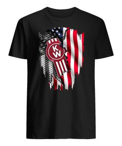 Kenworth trucks the world's best inside american flag guy shirt