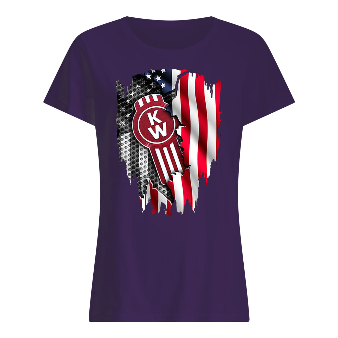 Kenworth trucks the world's best inside american flag lady shirt
