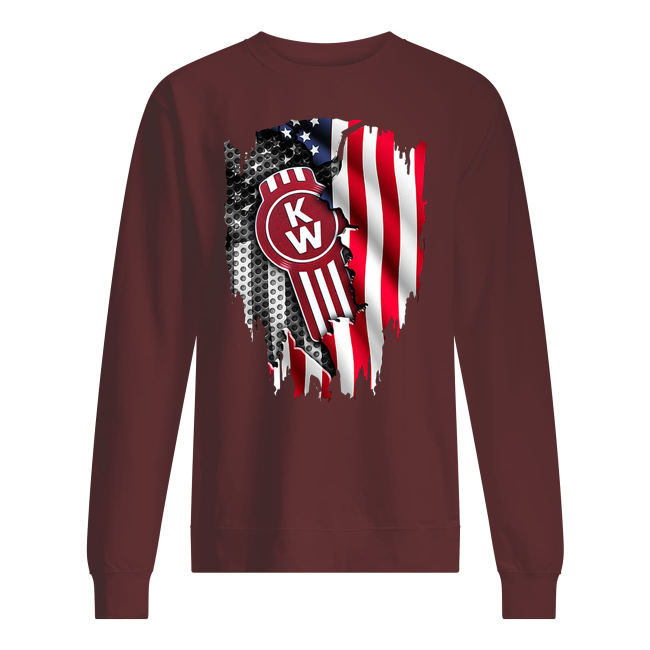 Kenworth trucks the world's best inside american flag sweatshirt