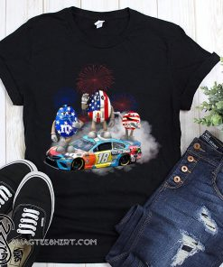 Kyle busch mm flag america 18 hazelnut spread shirt