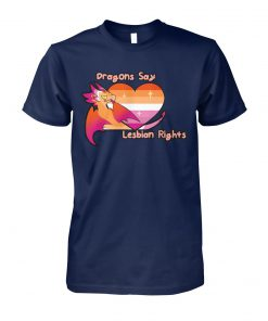 LGBT dragons say lesbian rights unisex cotton tee