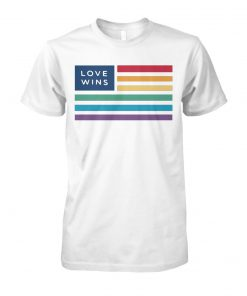 LGBT flag love wins unisex cotton tee