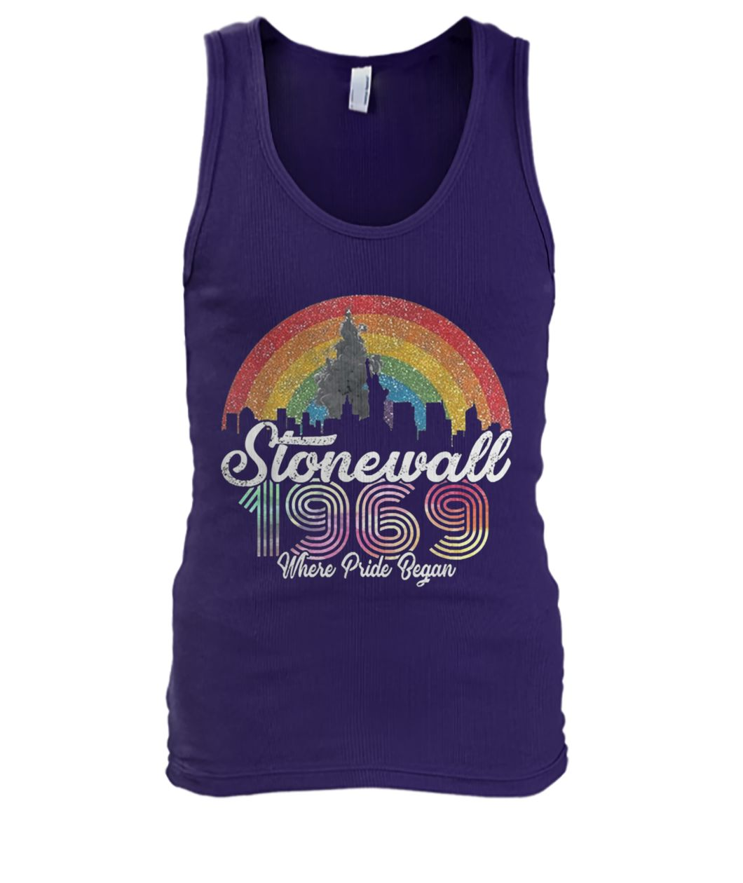 LGBT pride stonewall 1969 where pride began men's tank top