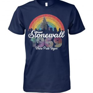 LGBT pride stonewall 1969 where pride began unisex cotton tee