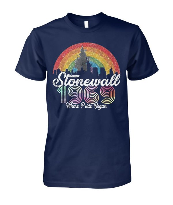 LGBT pride stonewall 1969 where pride began unisex cotton tee
