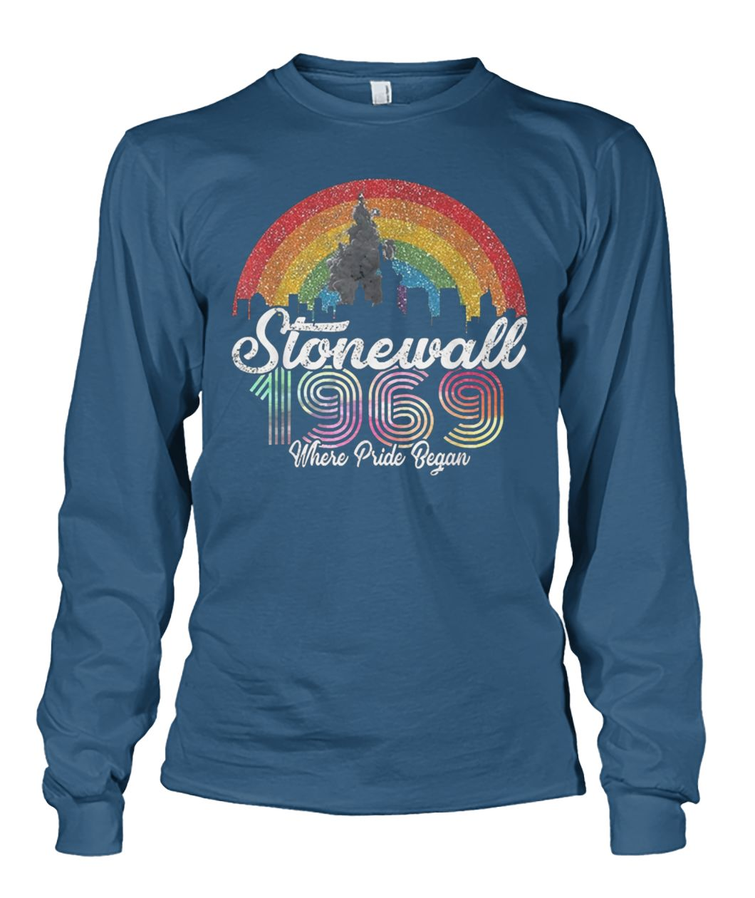 LGBT pride stonewall 1969 where pride began unisex long sleeve