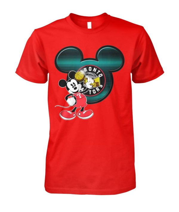 Love toronto raptors and mickey mouse disney unisex cotton tee