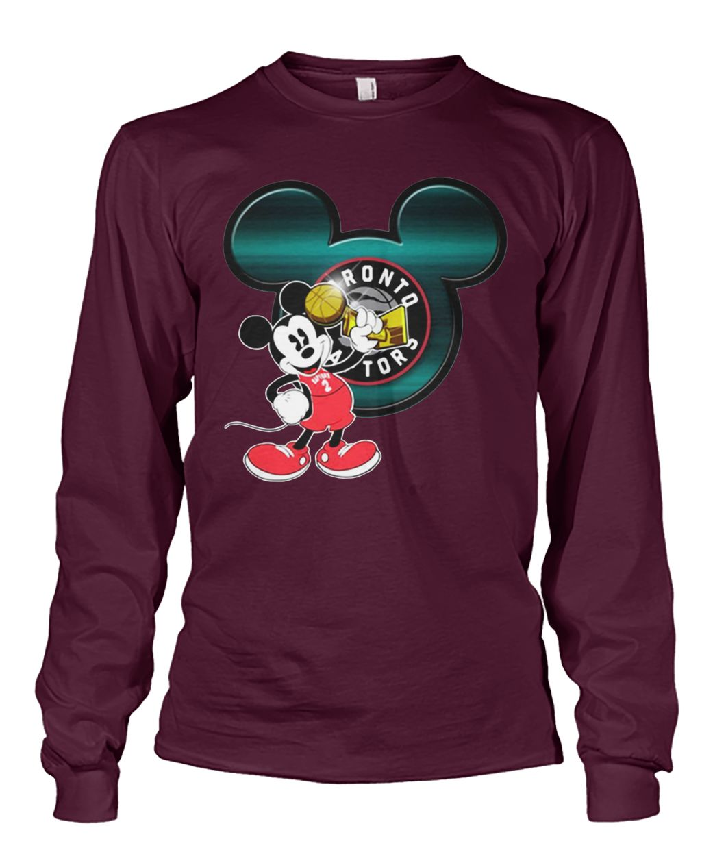 Love toronto raptors and mickey mouse disney unisex long sleeve