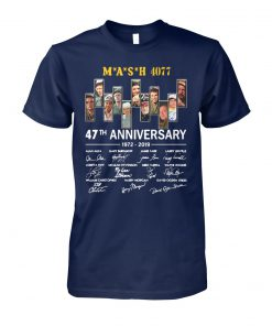 Mash 4077 47th anniversary 1972 2019 signatures unisex cotton tee