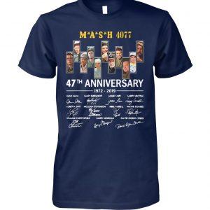 Mash 4077 47th anniversary 1972 2019 signatures unisex cotton tee