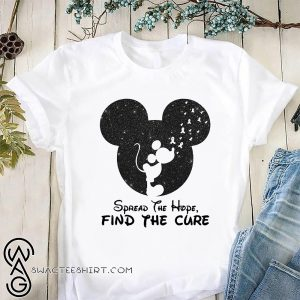 Mickey mouse spread the find the cure breast cancer awareness shirt