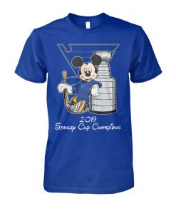 Mickey mouse st louis blues 2019 Stanley cup champions unisex cotton tee