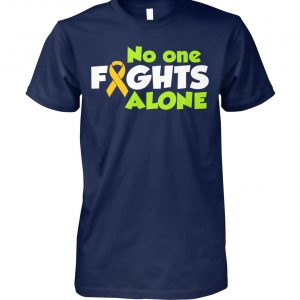No one fights alone cancer awareness unisex cotton tee