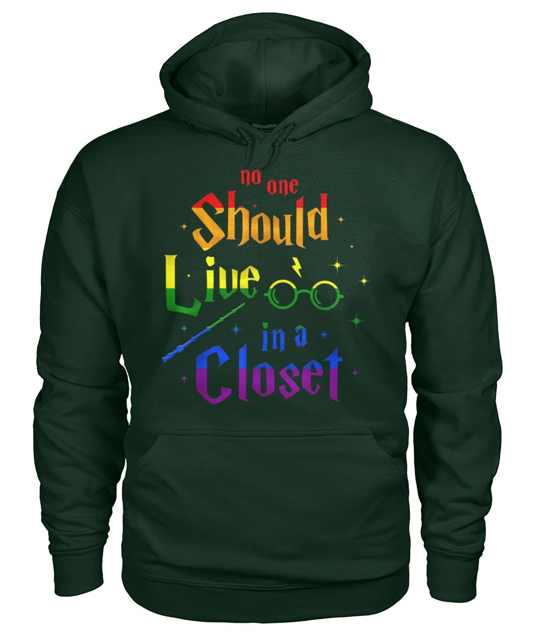 No one should live in a closet LGBT gay pride gildan hoodie