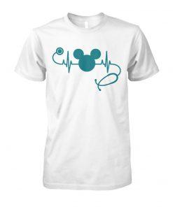 Nurse loves mickey mouse disney unisex cotton tee