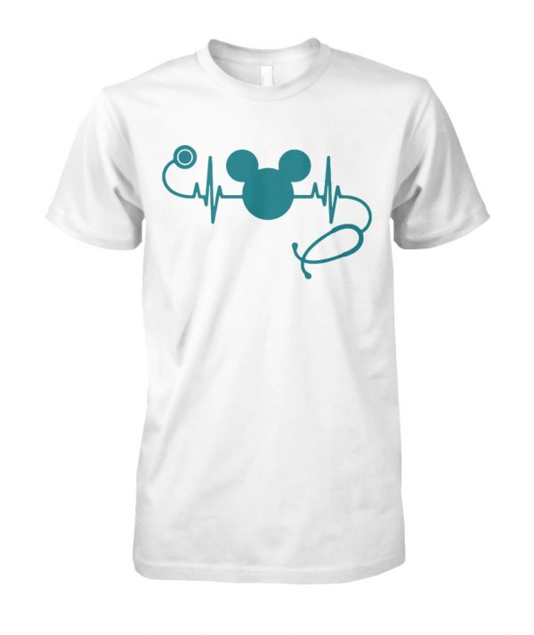Nurse loves mickey mouse disney unisex cotton tee