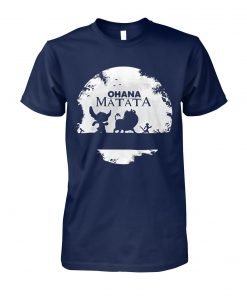 Ohana matata stitch timon and pumbaa the lion king unisex cotton tee