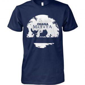 Ohana matata stitch timon and pumbaa the lion king unisex cotton tee