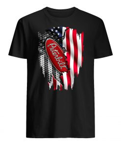 Peterbilt motors company inside the american flag guy shirt