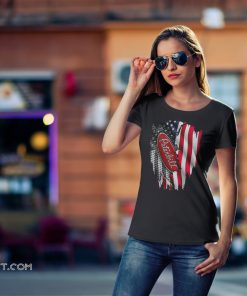 Peterbilt motors company inside the american flag shirt
