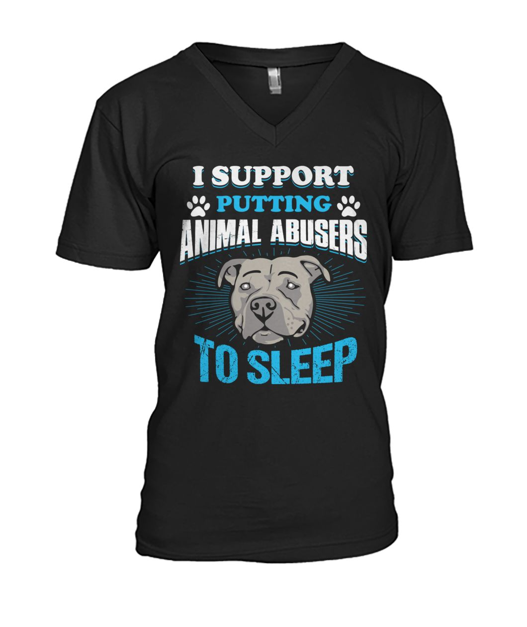Pitbull I support putting animal abusers to sleep mens v-neck