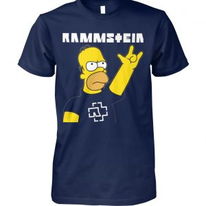 Rammstein homer simpson unisex cotton tee