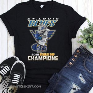 St louis blues 2019 baby groot hugs stanley cup champions shirt