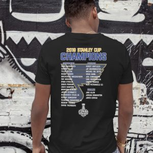 St louis blues 2019 stanley cup champions team names guy shirt