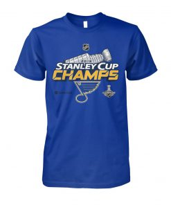 St louis blues stanley cup champions 2019 unisex cotton tee