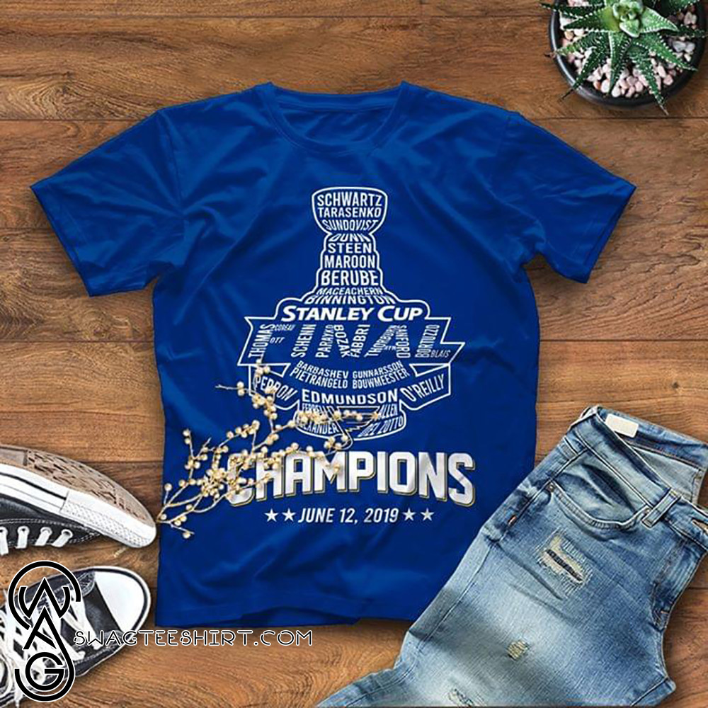 df55a99f575 St louis blues stanley cup champions june 12th 2019 shirt and gildan ...