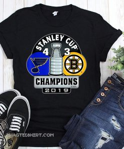 Stanley cup champions st louis blues 4 3 boston bruins 2019 shirt