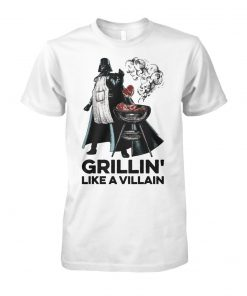Star wars darth vader grillin like a villain unisex cotton tee