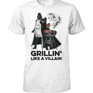 Star wars darth vader grillin like a villain unisex cotton tee