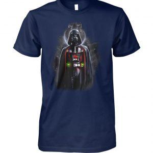 Star wars darth vader with death star portrait unisex cotton tee
