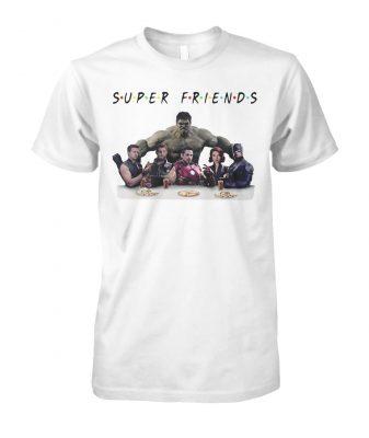Super friends avengers endgame characters unisex cotton tee